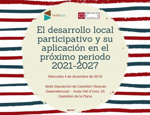 Fedetcas organiza el próximo 4 de diciembre una jornada sobre Desarrollo Local Participativo