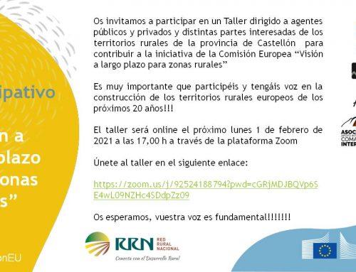 Taller online para participar sobre el futuro de los territorios rurales